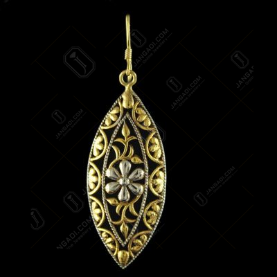 92.5 Gold Plated Silver Fancy Design Hanging Earrings