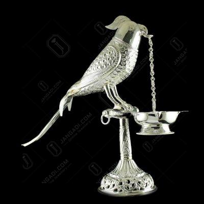 Silver Parrot Design Fancy Lamp
