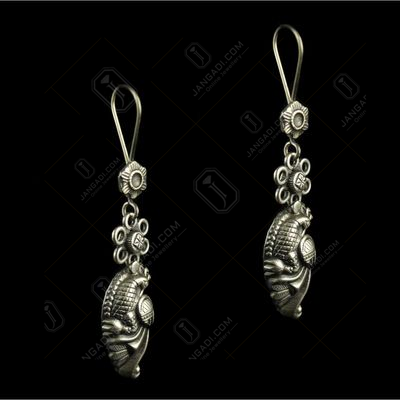 Silver Plated Fancy Design Earrings
