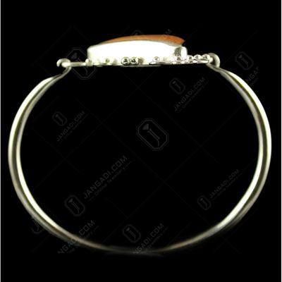 Silver Plated Fancy Design Moakaite Stone Bracelets