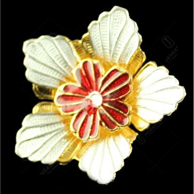 Silver Gold Plated Fancy Flower
