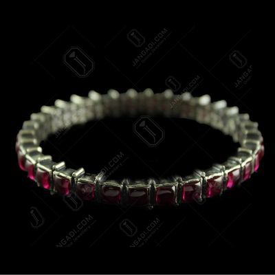Silver Oxsided Fancy design Screw Bangle