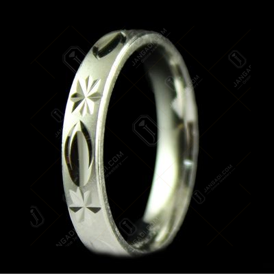 Silver Fancy Design Band Ring
