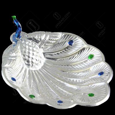 Silver Peacock Bowl