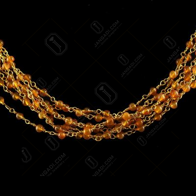 Silver Gold Plated Chain And Necklace Carnelian Beads