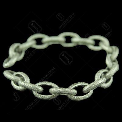 Silver Bracelet Studded Zircon Stones