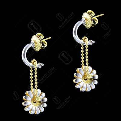 GOLD PLATED CHAIN DROPS EARRING