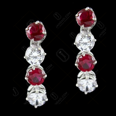 Solitaire Zircon Stone Drops Earrings
