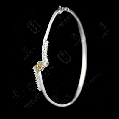 Zircon Stone Kada And Screw Bangles
