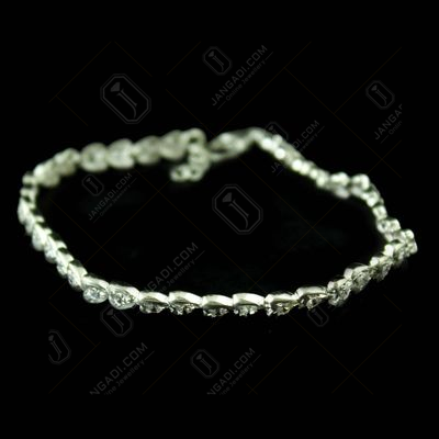 HEART SHAPE CZ STONES LADIES BRACELET