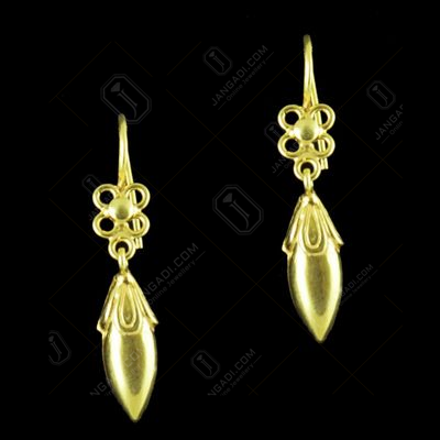 GOLD PLATED FLORAL EARRINGS