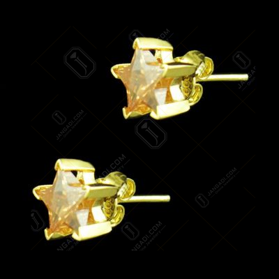GOLD PLATED CZ STAR EARRINGS