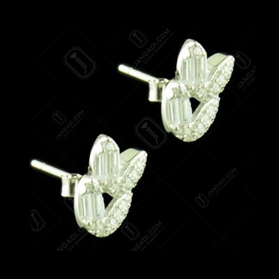 CZ STONE CASUAL EARRING