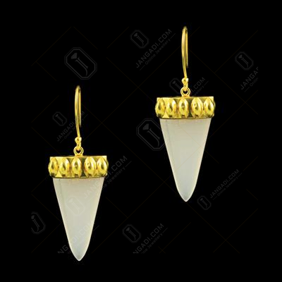 GOLD PLATED CHALCEDONY EARRINGS