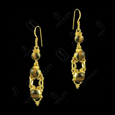 92.5 Silver Floral Earrings Studded semi Precious Stones