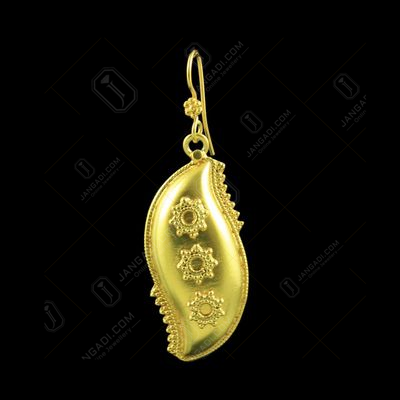 GOLD PLATED FLORAL DESIGN HANGING EARRINGS