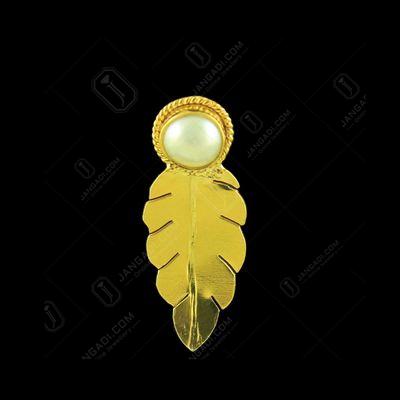 GOLD PLATED PEARL LEAF EARRINGS