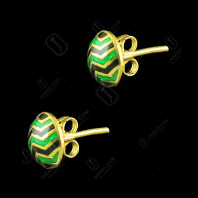 GOLD PLATED ENAMEL EARRINGS