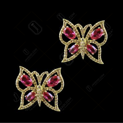 GOLD PLATED BUTTERFLY CZ EARRINGS
