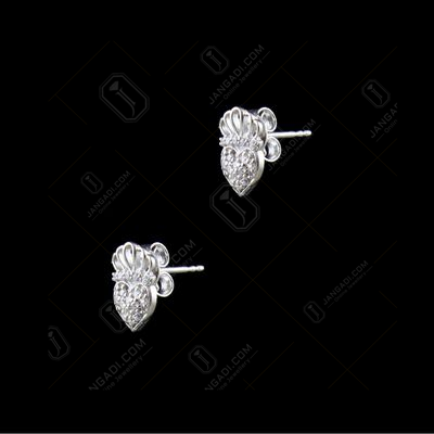BABY CROWN HEART EARRINGS