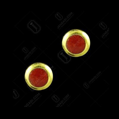 GOLD PLATED EARRINGS WITH CORAL
