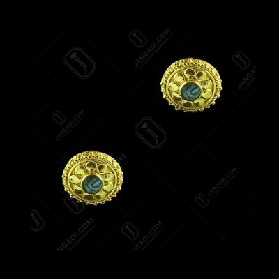 SILVER GOLD PLATED CASUAL EARRING WITH OPAL