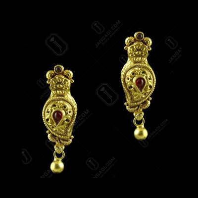 GOLD PLATED MANGO EARRINGS