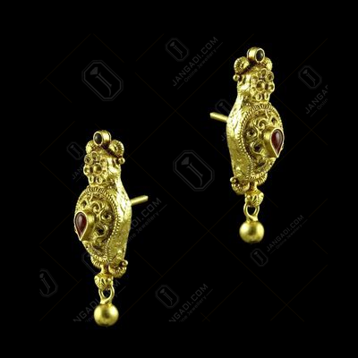 GOLD PLATED MANGO EARRINGS
