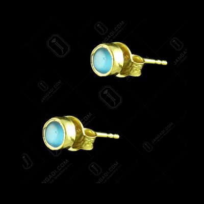 Silver Gold Plated Polki Earring
