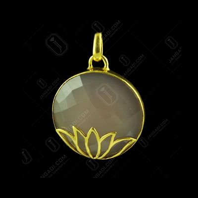 GOLD PLATED PINK CHALCEDONY PENDANT