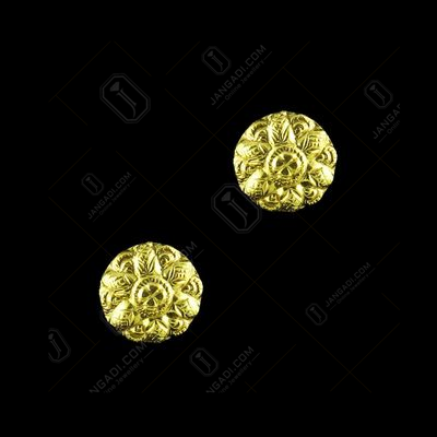 GOLD PLATED FLORAL CASUAL EARRINGS
