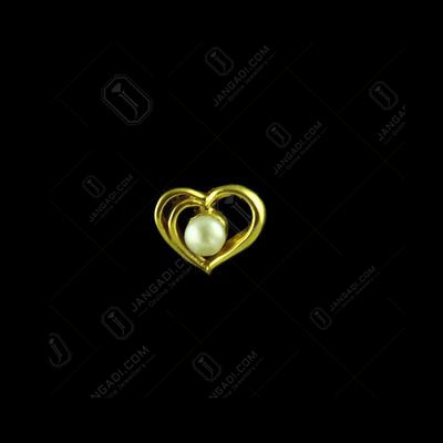 GOLD PLATED HEART DESIGN WITH PEARL EARRINGS