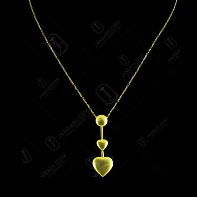 GOLD PLATED HEART SHAPE NECKLACES