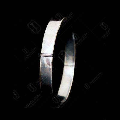 OXIDIZED SILVER LOCK BANGLE