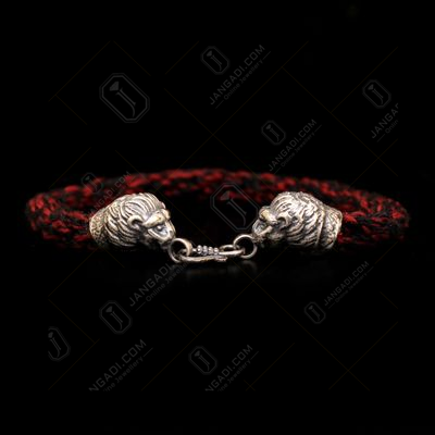 LION FACE MENS THREAD BRACELET