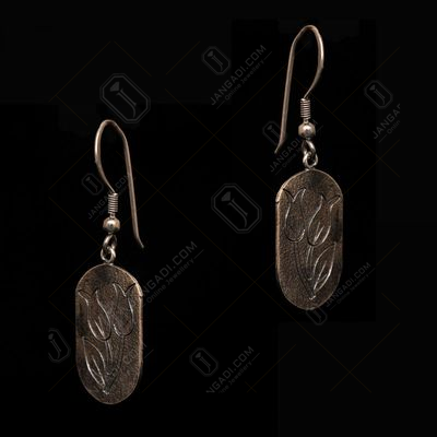 OXIDIZED SILVER HANGING EARRINGS