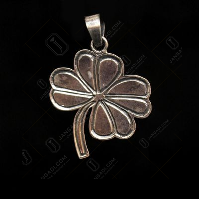 OXIDIZED SILVER FLOWER PENDENT