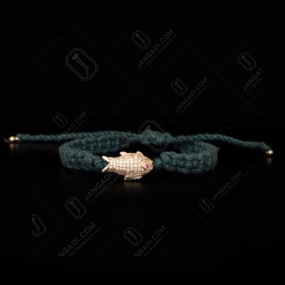 STERLING SILVER CZ THREAD BRACELET