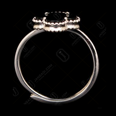 STERLING SILVER BLACK SPINAL RING