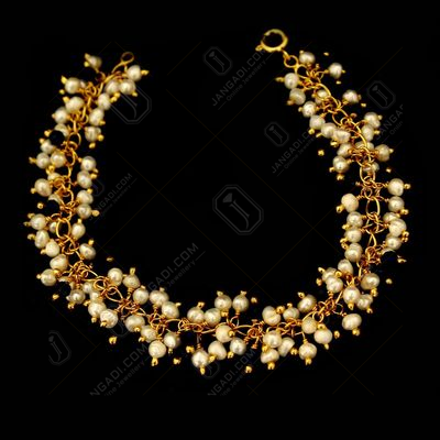 GOLD PLATED PEARL BEADS BRACELETS