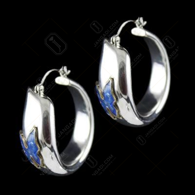 Silver Fancy Design Bali Earring