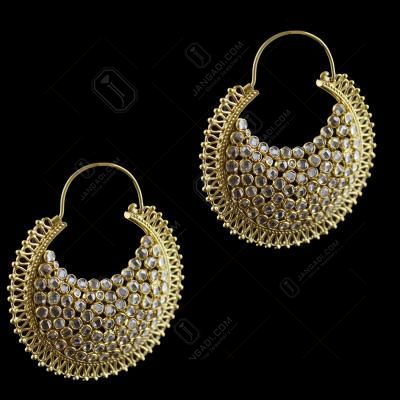 Chandbali Earring With Polki Stone