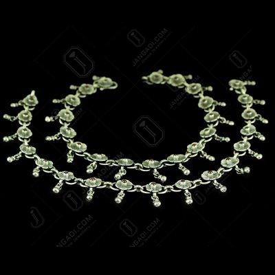 Oxidized Flower Anklets