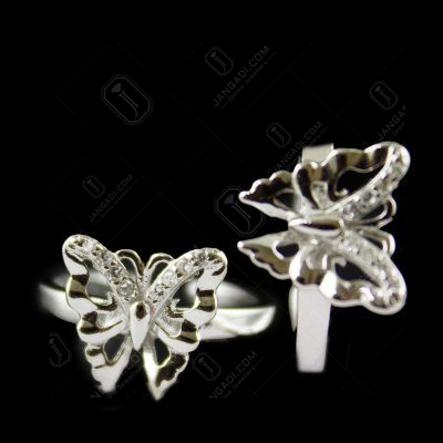ZIRCON STONE BUTTERFLY TOE RING