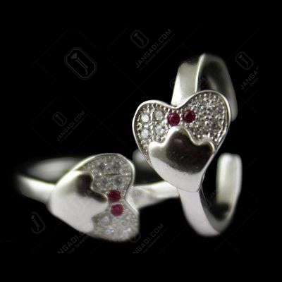 ZIRCON STONE STERLING SILVER TOE RING
