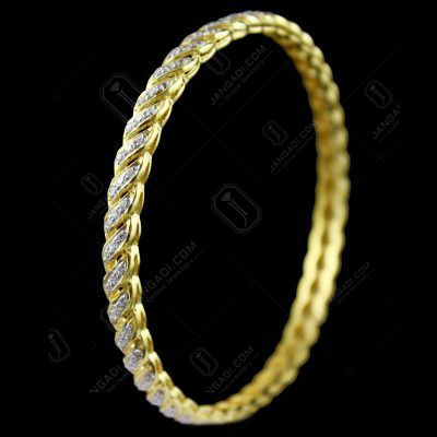 GLODPLATED ZIRCON STONE FANCY BANGLE