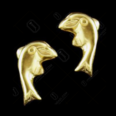 GOLD PLATED DOLPHIN EARRING