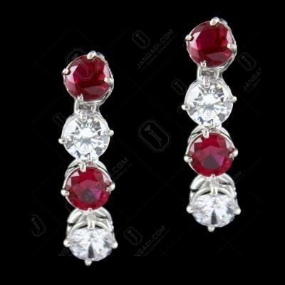 Solitaire Zircon Stone Drops Earrings