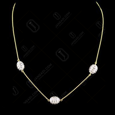 Gold Plated Zircon Stone Necklace