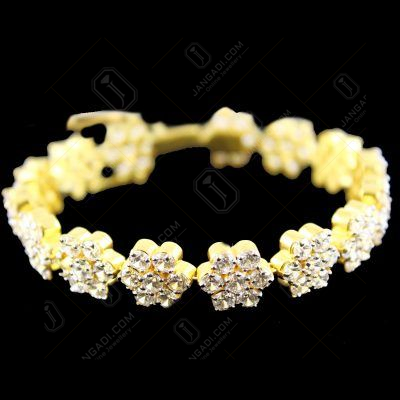 Gold Plated Zircon Stone Party Wear Braslet